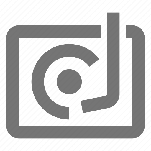 media, music, play, record, retro, song, sound, turntable icon