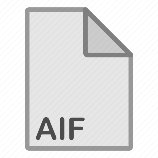 aif, audio, extension, file, format, hovytech, type icon
