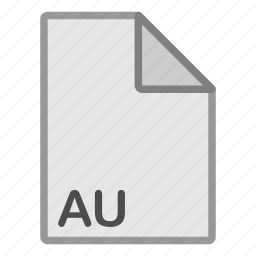au, audio, extension, file, format, hovytech, type icon