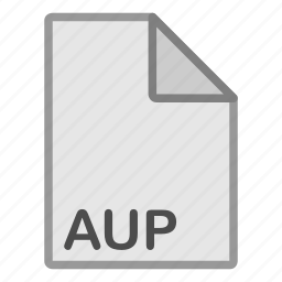 audio, aup, extension, file, format, hovytech, type icon
