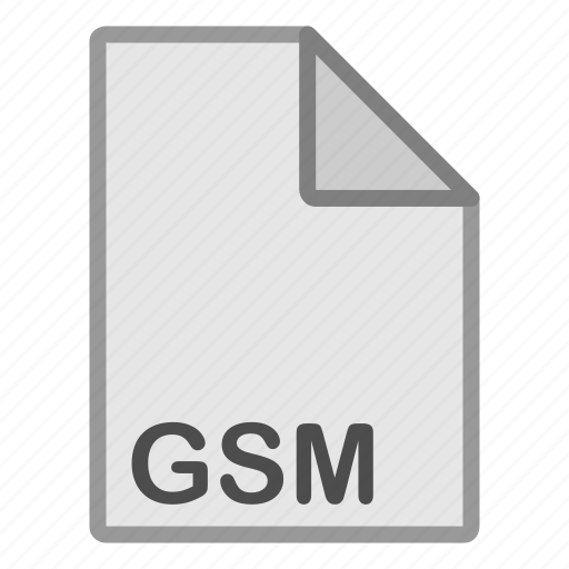 audio, extension, file, format, gsm, hovytech, type icon
