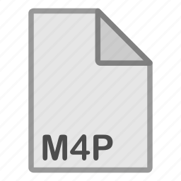 audio, extension, file, format, hovytech, m4p, type icon