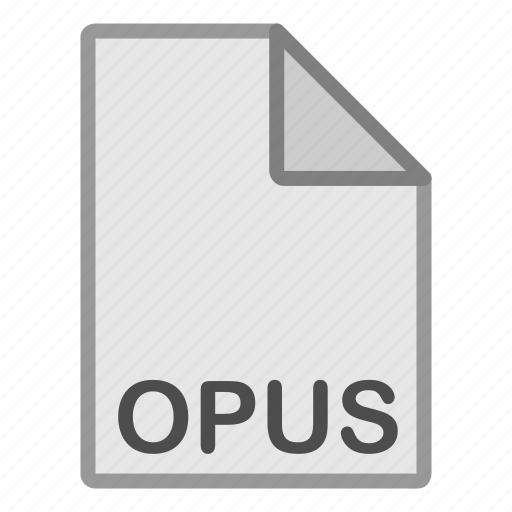 audio, extension, file, format, hovytech, opus, type icon