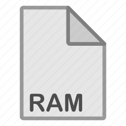 audio, extension, file, format, hovytech, ram, type icon