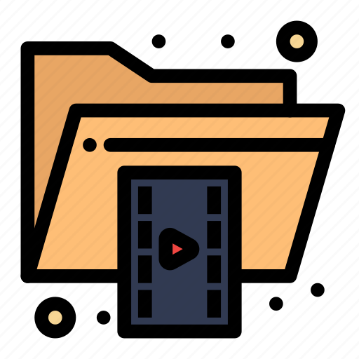 document, file, folder, format, video icon