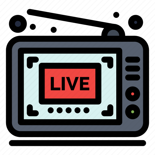 Broadcast, live, show, video icon - Download on Iconfinder