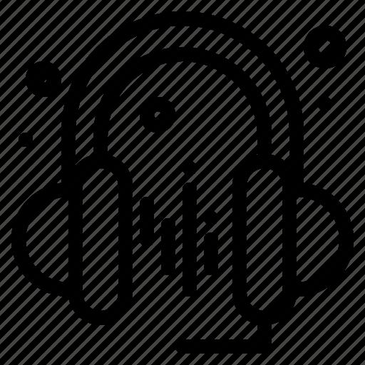 headphone, music, sound icon