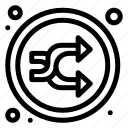 arrow, mix, music, random, shuffle