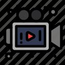 camera, media, video icon