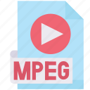 extension, format, media, mpeg, multimedia icon