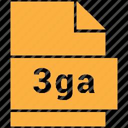 3ga, audio file format, file format icon