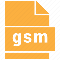 audio file format, file format, gsm icon