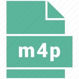 audio file format, file format, m4p icon