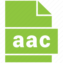 aac, audio file format, file format icon