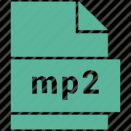 audio file format, file format, mp2 icon