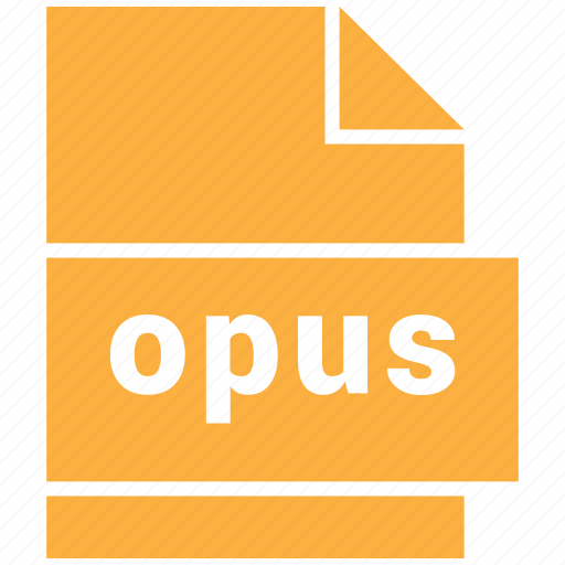 audio file format, file format, opus icon