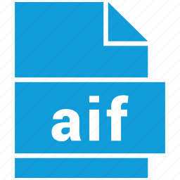 aif, audio file format, file format icon