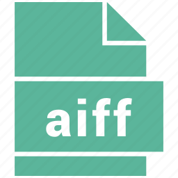 aiff, audio file format, file format icon