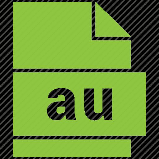 au, audio file format, file format icon