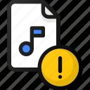 alert, music, file, sound, audio