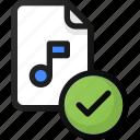 check, music, file, sound, audio
