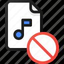 disable, music, file, sound, audio