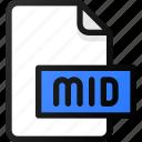 mid, file, sound, music, audio