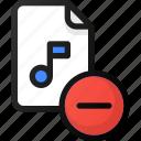 remove, music, file, sound, audio