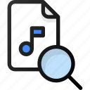search, music, file, sound, audio
