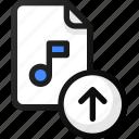 upload, sound, music, audio, file