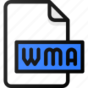 wma, file, sound, music, audio