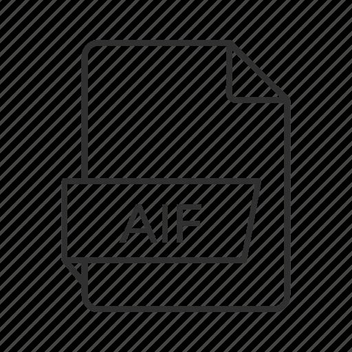 aif, aif file, aif icon, audio file, audio icon, audio interchange file, audio interchange file format icon