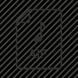 aif, aif icon, audio icon, audio interchange, audio interchange file, audio interchange file format, music icon icon