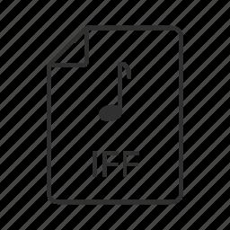 iff, iff file, iff icon, interchange file, interchange file format, music file, music icon icon