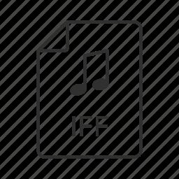 audio file, audio icon, iff, interchange file, interchange file format, music file, music icon icon