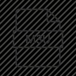 m3u, m3u file, m3u icon, media, media icon, media playlist, media playlist file icon