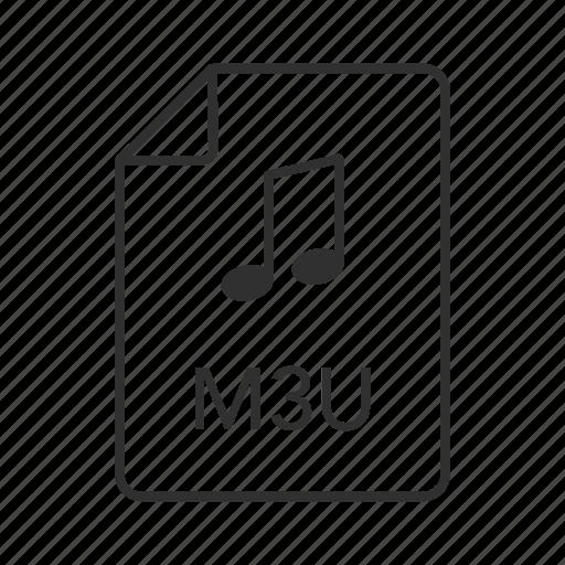 m3u, m3u icon, media icon, media playlist, media playlist file, music file, music icon icon