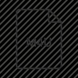 audio file, audio icon, m4u, m4u file, m4u icon, music file, music icon icon