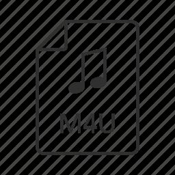 audio file, audio file icon, mp4, mp4 file, mp4 icon, music file, music file icon icon