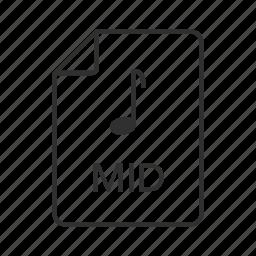 mid, mid file, mid icon, midi, midi file, midi icon, music icon icon