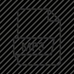 audio, audio file, mp3, mp3 audio file, mp3 file, music, music file icon