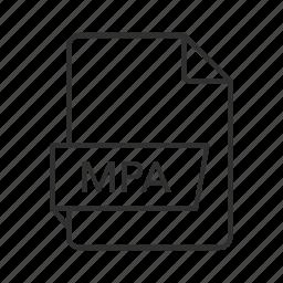 audio file, audio icon, mpa, mpa file, mpa icon, mpeg-2 audio, mpeg-2 audio file icon