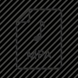 mpa, mpa file, mpa icon, mpeg, mpeg-2 audio, mpeg-2 audio file, music icon icon