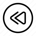 arrows, control, fast, music, rewind icon