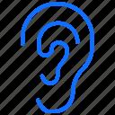 audio, music, ear, sound