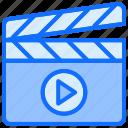 multimedia, film, shooting, clapboard, director