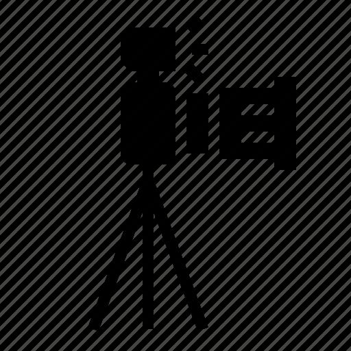 camera, lens, photo, photography, side, tripod icon