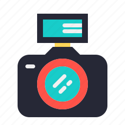 camera, dslr, flash, front, photo, photography icon
