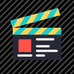 clapper, recording, set, studio icon
