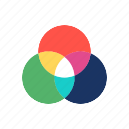 color, rgb, wheel icon